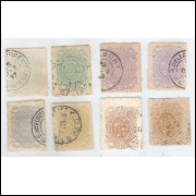 1890 - Série Cruzeiro, picotagem 13-14, usados