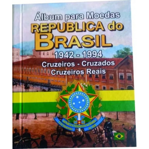 Álbum para moedas do Brasil. De 1942 a 1994.