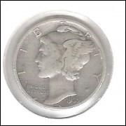 Estados Unidos Dime 1939 Prata .900 Mbc Mercúrio 18mm