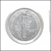 Estados Unidos Dime 1930 Prata .900 Mbc Mercúrio 18mm