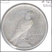 Estados Unidos Peace Dollar 1922 Prata .900 Mbc/s 32mm Águia