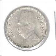 Egito 2 Piastres 1929 S/fc Prata .833 - 2,8g - 18mm