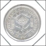 África Do Sul 6 Pence 1936 Sob Rei Jorge Vi Prata .800 19mm