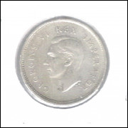 África Do Sul 3 Pence 1939 Mbc Rei Jorge VI Prata .800 16mm