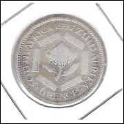 África Do Sul 6 Pence 1927 Mbc Rei Jorge Vprata .800 - 19mm