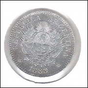 Argentina 10 Centavos 1883 Soberba Prata .900 - 2,5g - 18mm