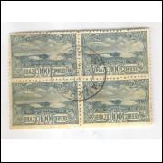 1915 - C-10 - Tricentenário de Cabo Frio. Quadra com carimbo 31-12-1916 Avaré - São Paulo