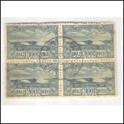 1915 - C-10 - Tricentenário de Cabo Frio. Quadra com carimbo 31-12-1915 Avaré - São Paulo