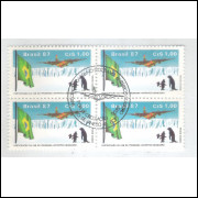 1987 - C-1544-CCO - Participação FAB no Programa Antártico Brasileiro. Quadra carimbo comemorativo