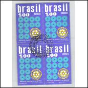 1973 - C-773 -CCO - Rotary - 50 Anos servindo o Brasil. Quadra carimbo Comemorativo.