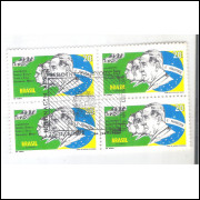 1972 - C-726 -CCO (2) - Presidentes da Revolução. Quadra carimbo comemorativo.