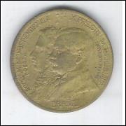1922 - 1000 Réis, ERRO: BBASIL, bronze alumínio, S/FC, Comemorativa do Centenário da Independência.