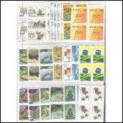 1979 - Coleção Selos Comemorativos em QUADRAS, novos.