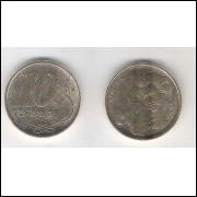2020 - 10 Centavos, FC, aço revestido de cobre.