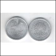 1956 - 20 Centavos,alumínio, FC.