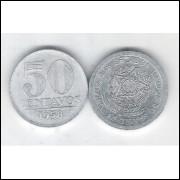 1958 - 50 Centavos, alumínio, FC.