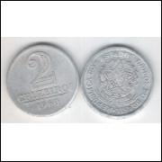 1960 -2 Cruzeiros, alumínio, mbc.