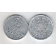 1961 -2 Cruzeiros, alumínio, FC.