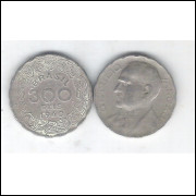 1940 - Brasil, 300 Réis, cuproníquel, mbc. Presidente Getúlio Vargas.