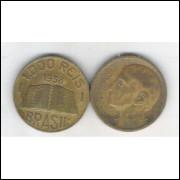 1938 - Brasil,1000 Réis, bronze-alumínio, mbc. Anchieta.