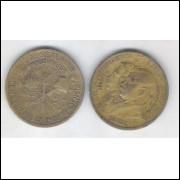 1922 - 1000 Réis, bronze alumínio, bc/mbc, Comemorativa do Centenário da Independência.