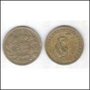 1924 - 500 Réis, bronze-alumínio, mbc.