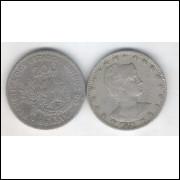1901 - Brasil, 200 Réis, cuproníquel, mbc.