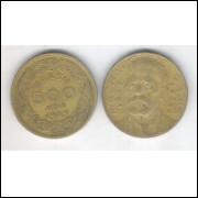 1939 - Brasil, 500 Réis, bronze-alumínio, mbc. Machado de Assis.