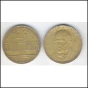 1938 - Brasil, 500 Réis, bronze-alumínio, mbc. Diogo Antônio Feijó.