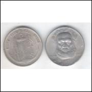 1938 - Brasil, 100 Réis, cuproníquel, mbc. Almirante Tamandaré.