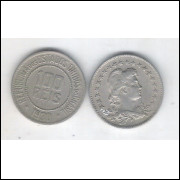 1930 - Brasil, 100 Réis, cuproníquel, mbc.