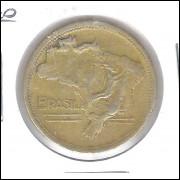 1949 -2 Cruzeiros, bronze-alumínio, mbc.