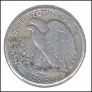Estados Unidos, Half Dollar, 1945 D, prata, mbc.