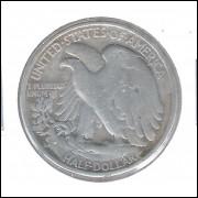 Estados Unidos, Half Dollar, 1946 S, prata, mbc.