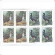 1995 - C-1943/4q - Série em Quadras, Preservação da Fauna: Macuco e Mutum.