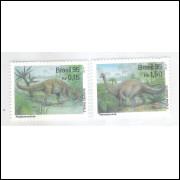 1995 - C-1951/2q - Série Dinossauros: Angaturama e Titanosauros. Fauna.