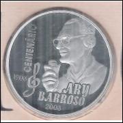 2003 - 2 Reais, Comemorativa Ary Barroso 1903-2003. Prata. No estojo original.