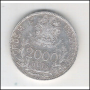 1912 - 2000 Réis, estrelas ligadas, prata, soberba, Brasil-República.