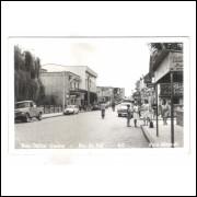 Postal antigo Rua Carlos Gomes, Rio do Sul - SC. Foto Marzall. Anos 50.
