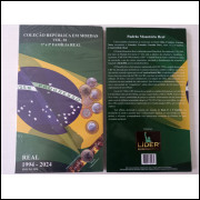 Álbum para moedas do Brasil. Volume 1, De 1994 a 2024. Real