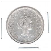 1913 - 500 Réis, prata, soberba, Brasil-República.