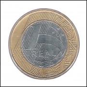 2002 -1 Real, soberba, bimetálica (aço e aço revestido de cobre).