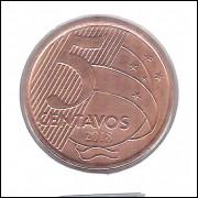 2018 -  5 Centavos, s0berba, aço revestido de cobre.