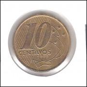 1999 -  10 Centavos, soberba, aço revestido de cobre.