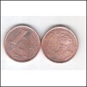 1999 -   1 Centavo, soberba, aço revestido de cobre.