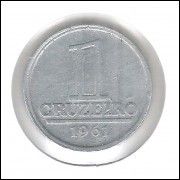 1961 - 1 Cruzeiro, Reverso Horizontal à direita.