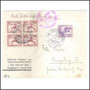 Alemanha (3o Reich) Envelope circulado, com carimbos Especiais, 1o dia das XI Olimpíadas de Berlin.