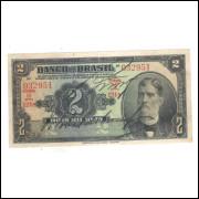 R194b Brasil 2 Mil Réis 1a estampa Banco do Brasil 1923 mbc/s. Prudente de Morais.