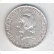 1912 - 2000 Réis,  prata, mbc, Brasil-República.