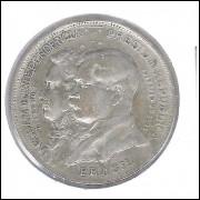 1922 - 2000 Réis, prata, mbc, Comemorativa do Centenário da Independência.